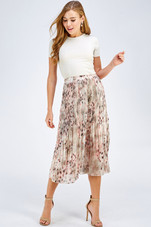 Stay cool & chic this summer with our pleated midi skirt! Shop Style WB1039-C-B