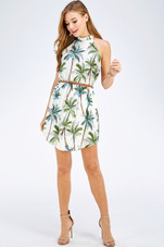 Officially kicking this summer with our favorite tropical print halter dress. Shop Style WD1697-E