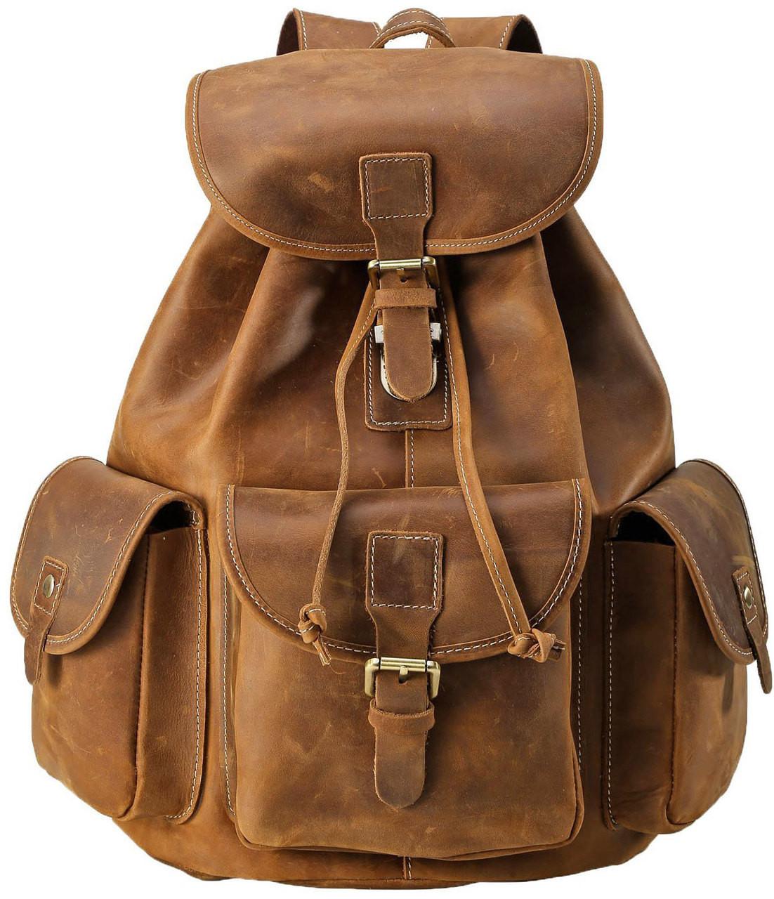 Pratt Leather Vintage Leather Backpack (Vintage Mocha) 15ed0d8e5e47