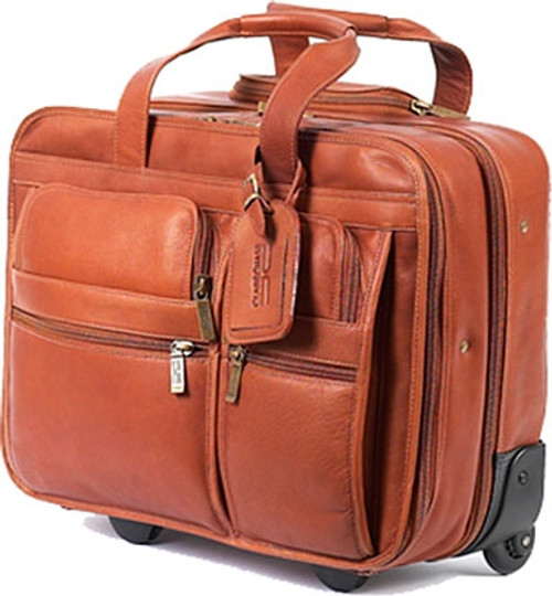 Claire Chase Rolling Computer Briefcase Leather Briefcase on Wheels ... 1a6018a70