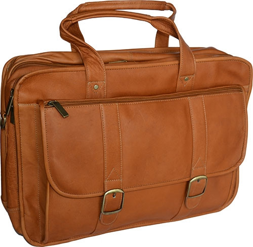 Edmond Leather Expandable Briefcase Carry All c6d6bb1c9c32c
