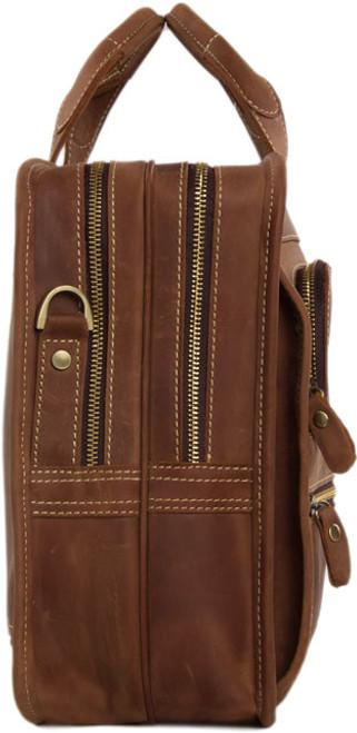 52f26ff5f9e0 ... Pratt Leather Bradley Business Bag Vintage Mocha (Profile) ...
