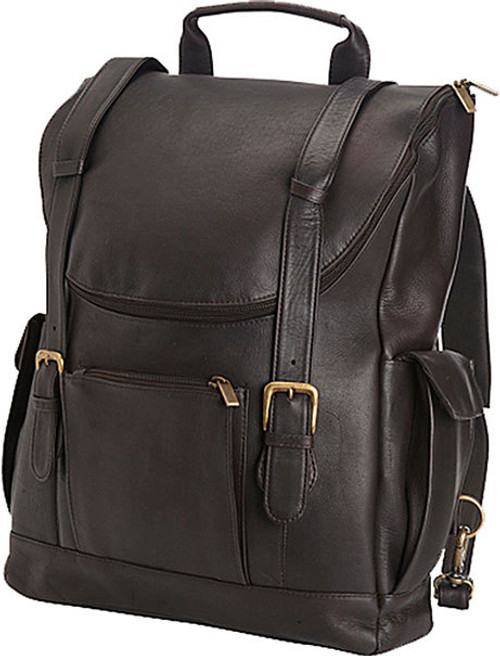 29b7fe2d12 Edmond Leather Deluxe Leather Backpack Briefcase (Chocolate)