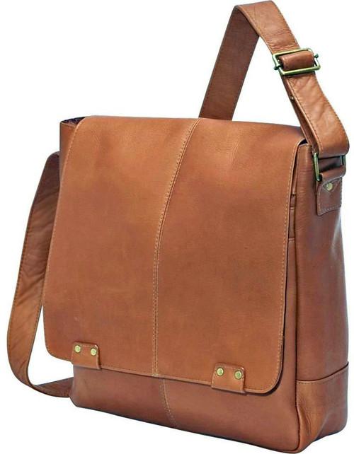 8d8b1f40b7ba Edmond Leather Deluxe Vertical Messenger Bag