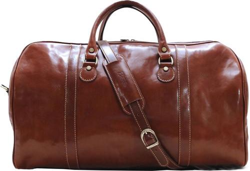 Buccio Asti Italian Leather Duffle Bag Carryon d06b26ec0e8ee