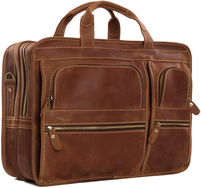 2d73aca3d720 Pratt Leather Co. Bradley Business Bag Vintage Leather