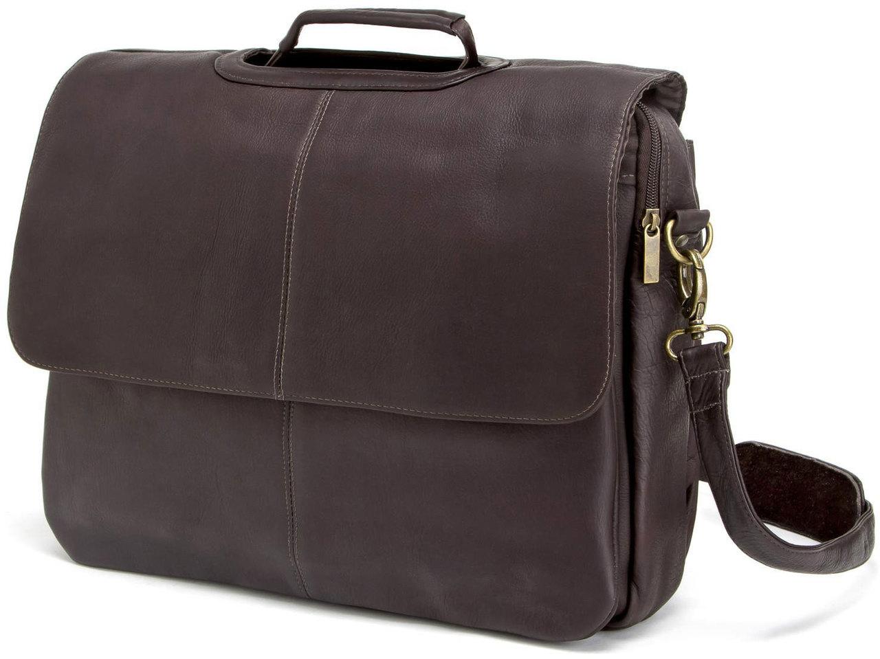10efc6594e Edmond Leather Deluxe Executive Briefcase (Chocolate)