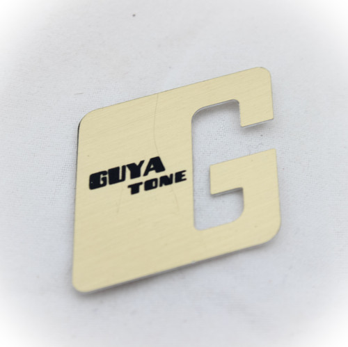 "Guyatone ""G"" Gold Headstock logo badge, Authentic Guyatone Product for your vintage guitar"