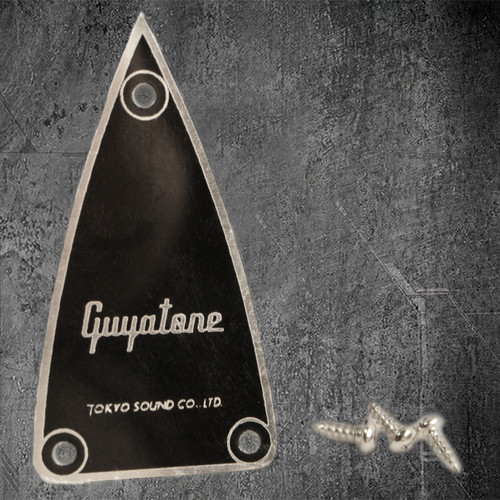 Guyatone Pointed Truss Rod Cover Black/Silver