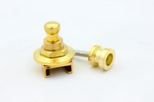 (1) Locking Guitar Strap Pin Button - Gold