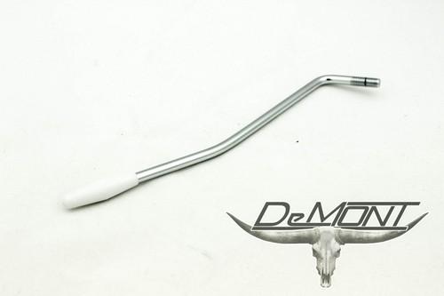 Guitar Strat Style Trem Tremolo Whammy Bar Arm 6mm - Chrome / White