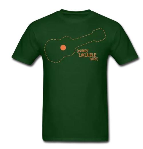 Insert Ukulele Here – Men's T-Shirt