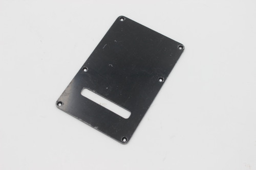 MIghty Mite Black Flush Mount Recessed Strat Back Plate Cover Single Ply Straight