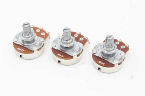 (1) A250 & (2) B250 Taper Strat Large Volume & Tone Pots 15mm Shaft for Guitar