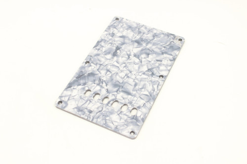 Grey Pearloid Strat Backplate 3 Ply - Straight