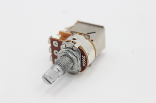 (1) B500K DPDT Push Pull Split Shaft Linear Taper Guitar Tap Pot