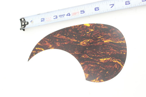 """Martin NOS Yellow Tortoise Shell Acoustic Guitar Right Hand Pickguard 7""""+, 00028m, 00042"""
