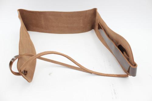 Vintage 1970s Brown Leather Wide Guitar Strap - NOS