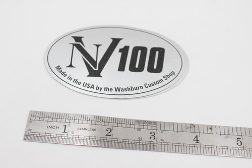 Washburn NV100 Made in USA Custom Shop Silver Sticker