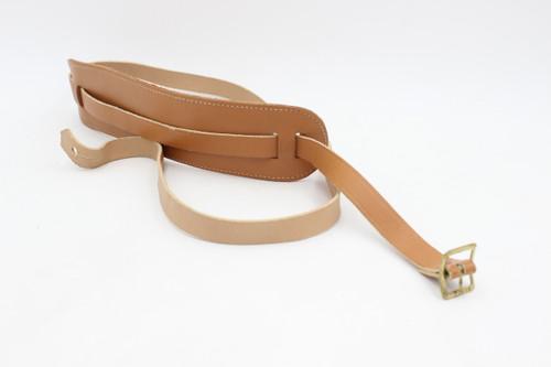 Vintage NOS Brown Skinny Leather Guitar Strap