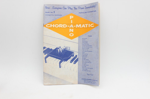 Piano Chord-A-Matic Vintage Music Instruction Book