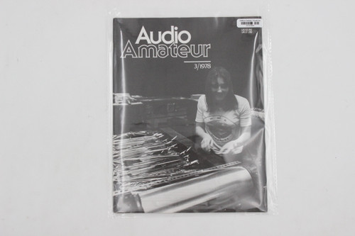 Audio Amateur No. 3 1978 Vintage Amp Magazine