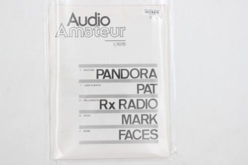 Audio Amateur No. 1/1978 Vintage Amp Magazine (Pandora, Pat, Rx Radio, Mark..)