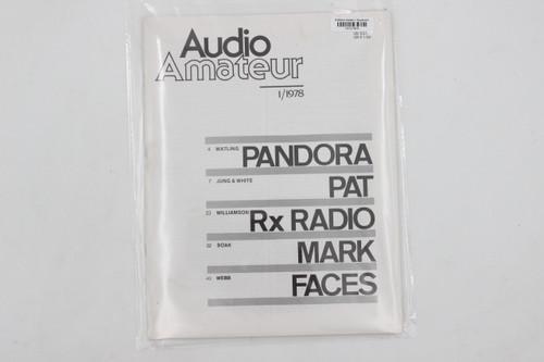 Audio Amateur No. 1 1978 Vintage Amp Magazine (Pandora, Pat, Rx Radio)