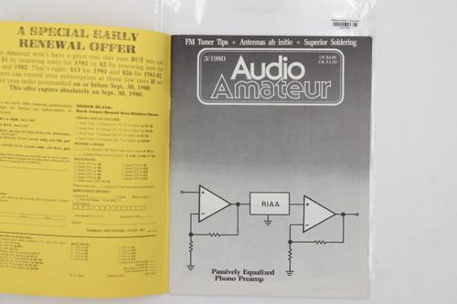 Audio Amateur No. 3 1980 Vintage Amp Magazine (FM Tuner, Antennas ab initio...)