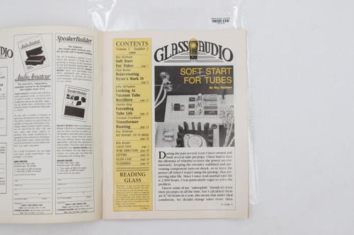 "Glass Audio Vintage Magazine ""Soft Start For Tubes"" Vol 1 , No 2 1989"