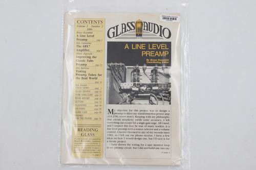 "Glass Audio Vintage Magazine ""A Line Level Preamp"" Vol 3 , No 2 1991"