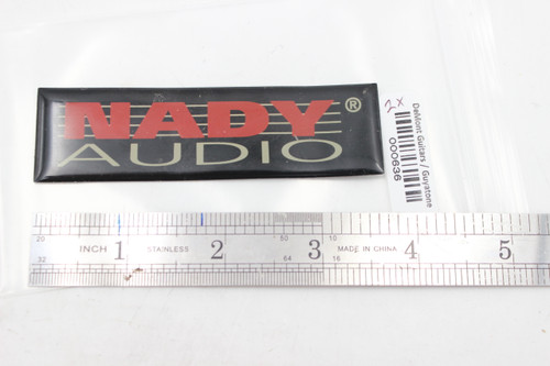 Nady Soft Plastic Flexible Name Plate Badge for Amp / PA