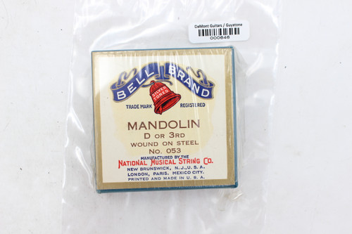 Vintage Bell Brand Mandolin D 3rd Wound Steel String No. 053 NOS -  for show only