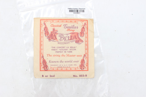 Vintage La Bella Classical Guitar String B 2nd No. 852-B NOS - for show only