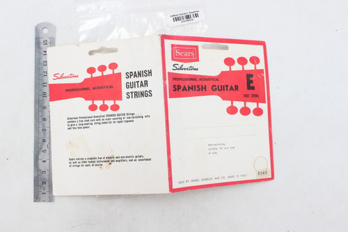 Sears Silvertone Spanish String Packaging Hang Tag, Made in Italy - case candy