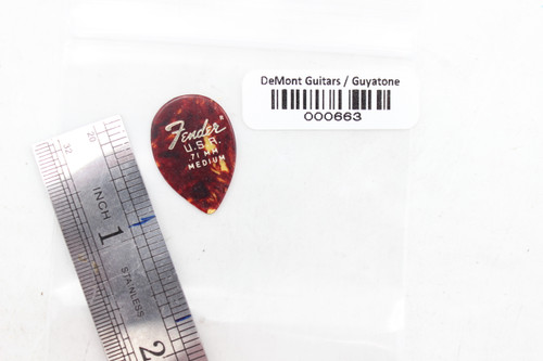 Fender .71 Medium Vintage Jazz Celluloid Tortoise Shell Style Pick- NOS