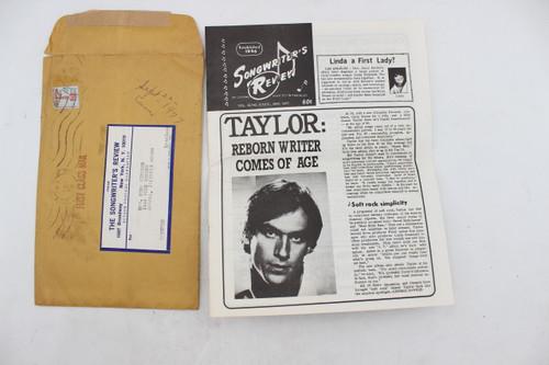1977 Vol 32 No 5 Oct/Nov Songwriter's Review Magazine - Original Envelope