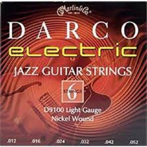 DARCO Electric Jazz Guitar Strings D9100 Light Gauge Nickel Wound