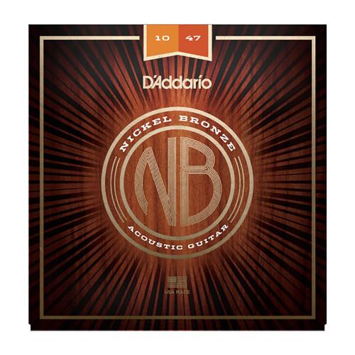 D'Addario NB1047 Nickel Bronze Acoustic Strings: 10-47 (Extra Light)