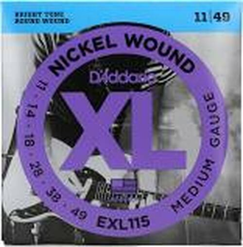 D'Addario XL Nickel Wound EXL115 Round Wound Guitar Strings: 11-49 (Medium)