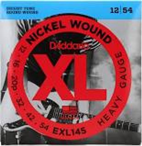 D'Addario XL Nickel Wound EXL145 Round Wound Guitar Strings: 12-54 (Heavy)
