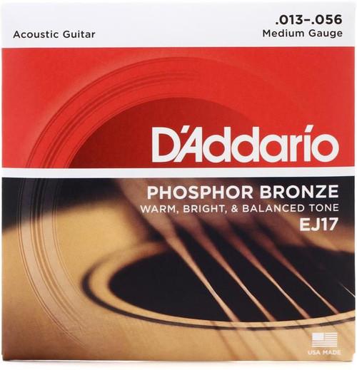 D'Addario EJ17 Phosphor Bronze Acoustic Guitar Strings: 13-56 (Medium)