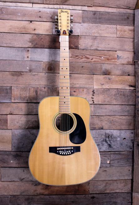 Ibanez Vintage MIJ Model 699-12 Concord Maple 12-String Acoustic Guitar OEM Case