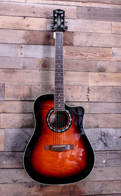Fender Hot Rod T-Bucket T-300CE 3TS Acoustic/Electric Guitar w/Bag