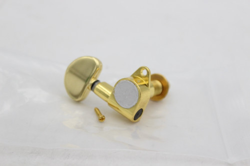 Gold Large Button Single Low-Side Single (1) Guitar Tuner