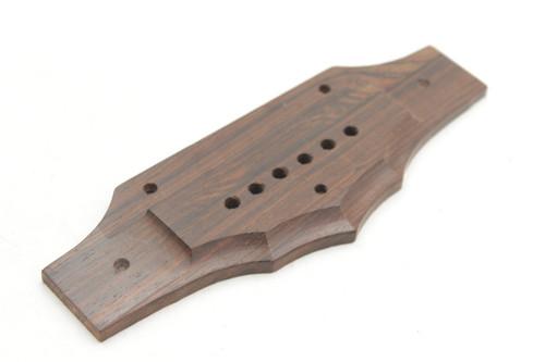 National Vintage NOS N-12 Rosewood Acoustic Guitar Bridge.