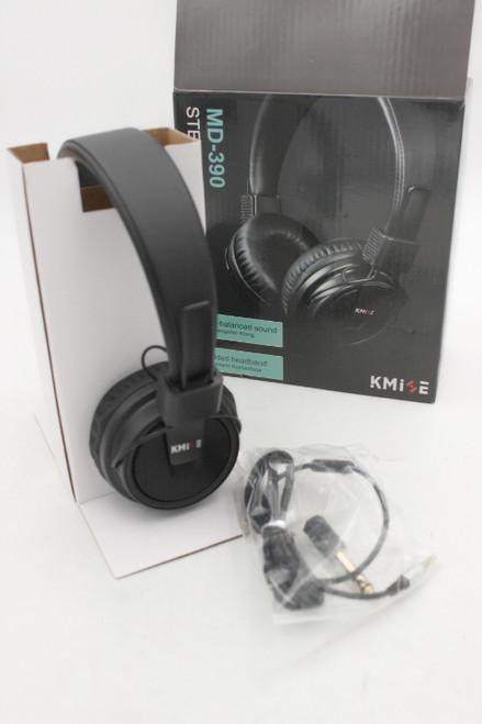 "Kmise Headphones Foldable Headset Super Bass Earphones 1/4"" & 3.5mm MD-390"