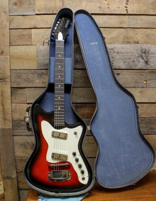 "Harmony Bobkat H17 ""Holiday"" Vintage Gold Foil Electric Guitar w/ Case"