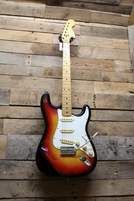 Austin Vintage Fujigen MIJ Big Headstock Maple Fretboard Strat Style Tobacco Burst Electric Guitar
