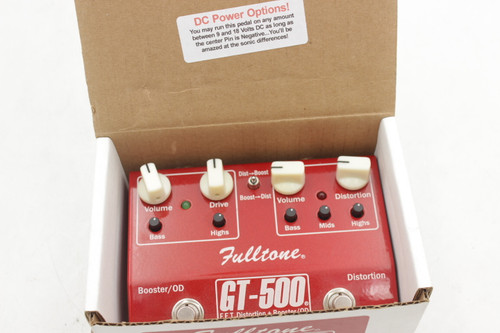 Fulltone GT-500 FET Distortion Booster Overdrive Effects Pedal w/ Box
